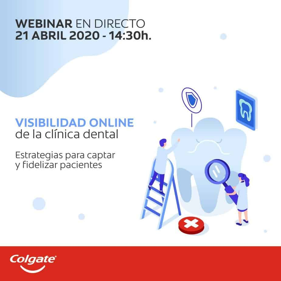 Formación dental en Marketing Digital. Nuevo Webinar de la mano de Colgate.