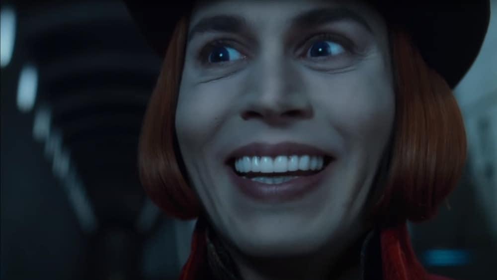 johnny depp sonrisa como willy wonka